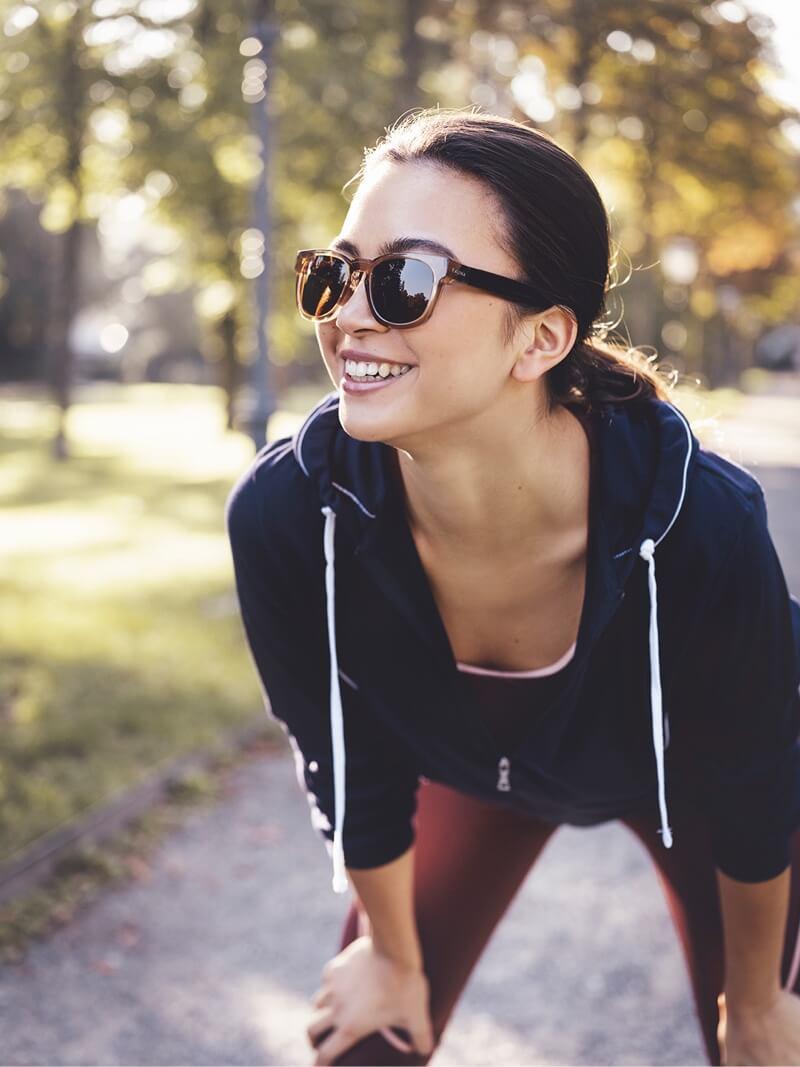 Musikhören beim Laufen und Joggen mit der Fauna Audio-Brille.
