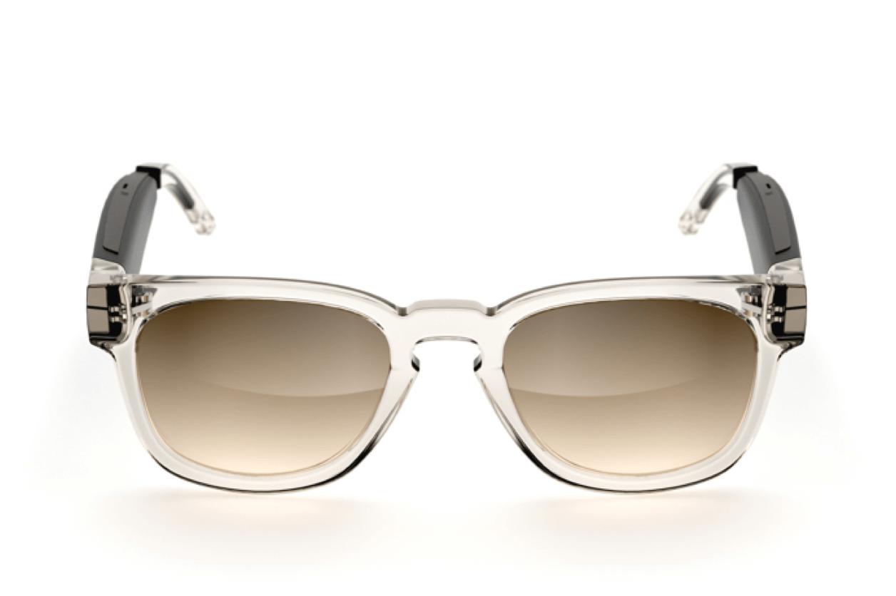 Fauna audio glasses music glasses Bluetooth glasses - model Spiro Transparent Brown