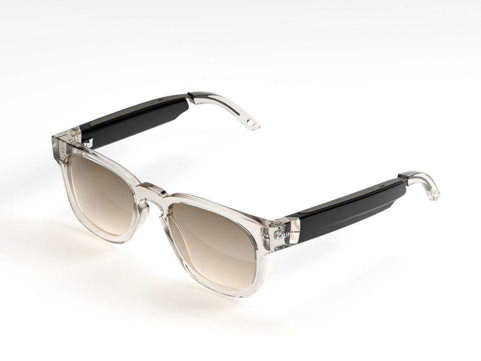 Fauna Spiro Transparent Brown music sunglasses