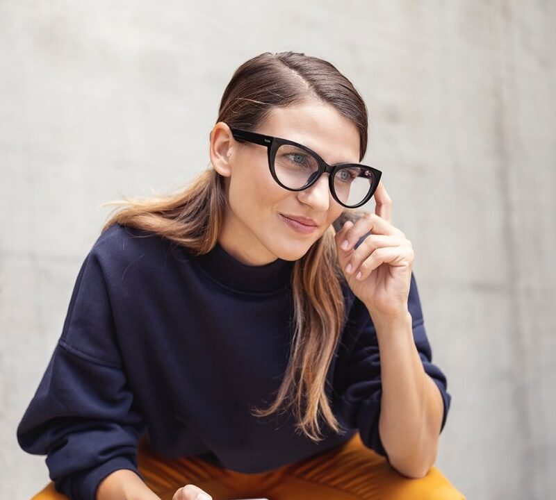 Work from home or at the office with Fauna audio eyewear - take phone calls