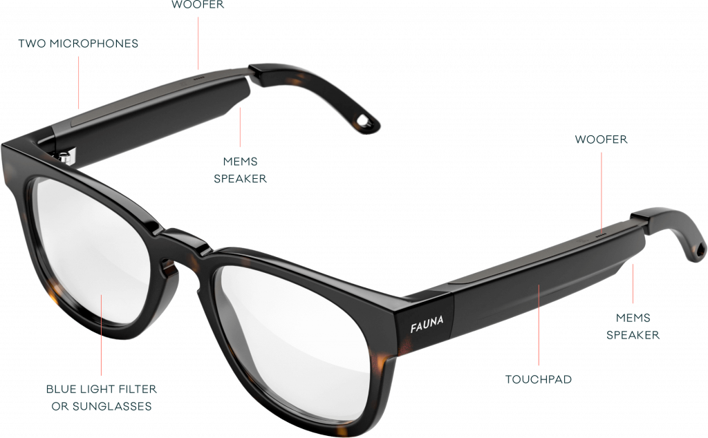 Overview of Fauna Audio Glasses