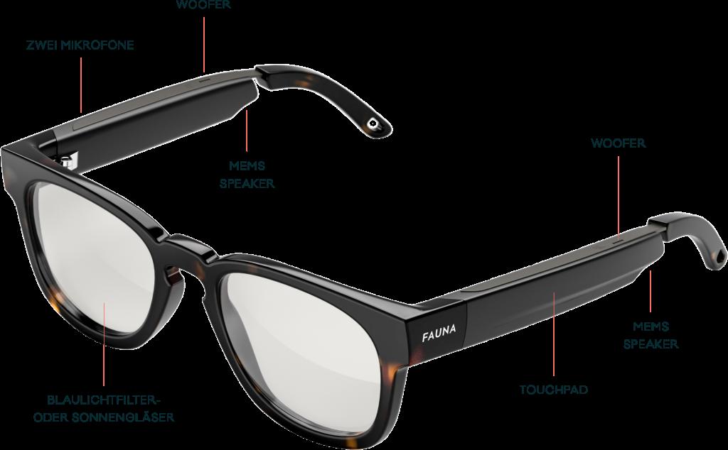 Fauna Audio-Brille Übersicht